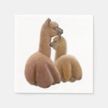 Motherly Love Alpacas Paper Napkins