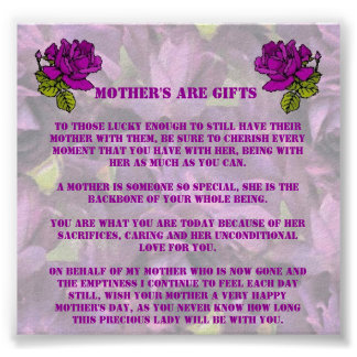 MOTHER'S ARE GIFTS POSTER