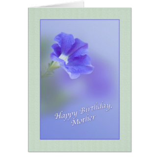 Mother's Birthday Card with Petunia