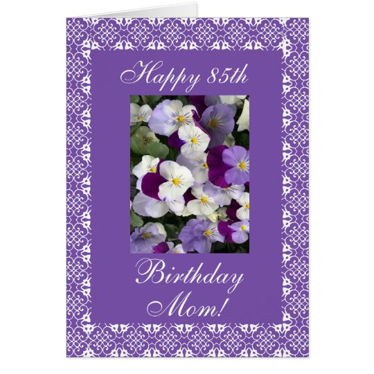Mother's birthday pansies card