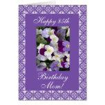 Mother's birthday pansies greeting card