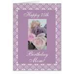 Mother's birthday roses pastels greeting card