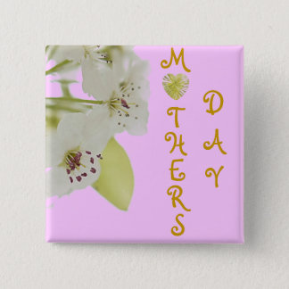 MOTHERS DAY 15 CM SQUARE BADGE