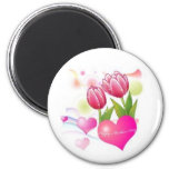 Mothers day 6 cm round magnet