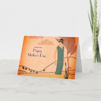 Mother's Day Art Deco Card