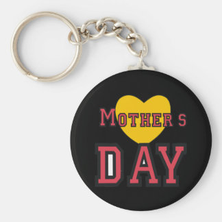 Mothers Day Basic Round Button Key Ring