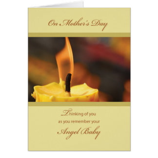 Mother's Day Bereaved, Miscarriage Yellow Candle Card
