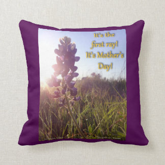 Mother's Day Blue Bonnets Throw Pillow