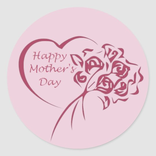 Mother's Day Bouquet Classic Round Sticker