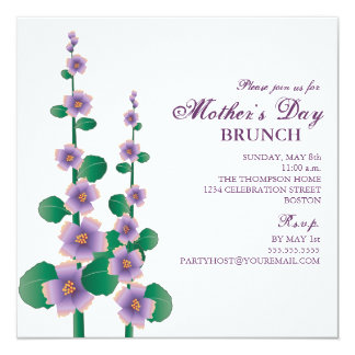 Mother's Day Brunch Floral Garden Invitation