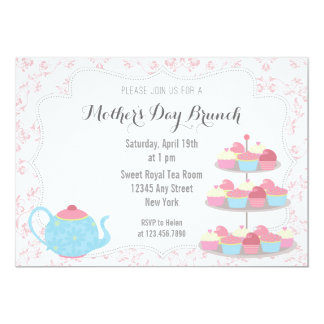 Mother's Day Brunch Invitation Floral Pink