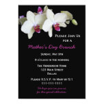 Mothers Day Brunch Invitation - Orchids for Mother 13 Cm X 18 Cm Invitation Card