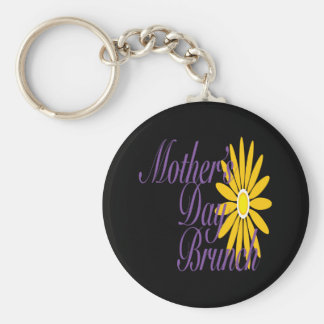 Mothers Day Brunch Basic Round Button Key Ring