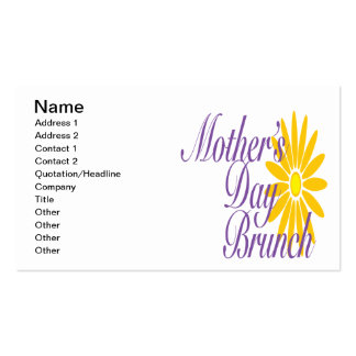 Mothers Day Brunch Pack Of Standard Business Cards