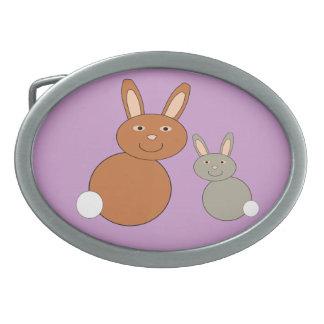 Mothers Day Bunnies Belt Buckle