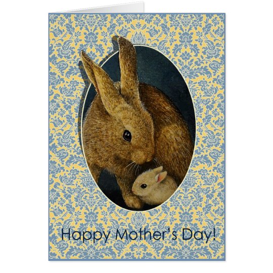 Mothers Day Bunnies Card