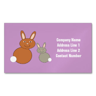 Mothers Day Bunnies Custom Magnetic Business Cards
