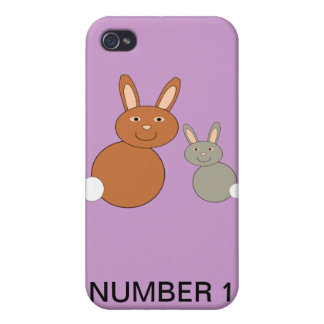 Mothers Day Bunnies Custom Number 1 Mom 4 C iPhone 4/4S Cover