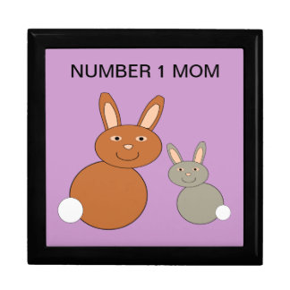 Mothers Day Bunnies Custom Number 1 Mom Gift Box