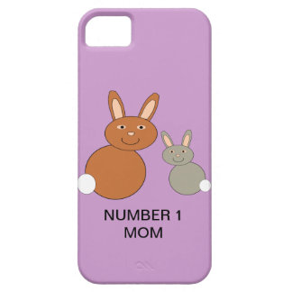 Mothers Day Bunnies Custom Number 1 Mom iPhone 5 C Barely There iPhone 5 Case