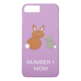 Mothers Day Bunnies Custom Number 1 Mom iPhone iPhone 8 Plus/7 Plus Case