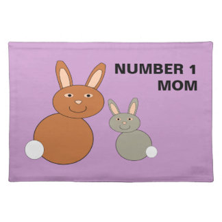 Mothers Day Bunnies Custom Number 1 Mom Placemat