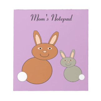 Mothers Day Bunnies Customizable Notep Notepad