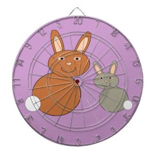 Mothers Day Bunnies Dart Board