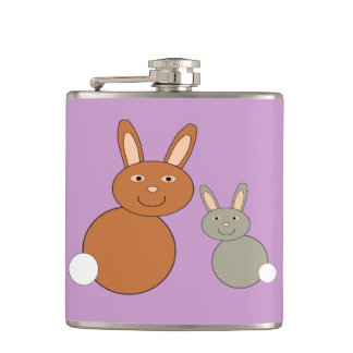 Mothers Day Bunnies Flask