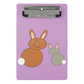 Mothers Day Bunnies Mini Clipboard