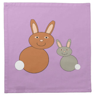 Mothers Day Bunnies Napkin