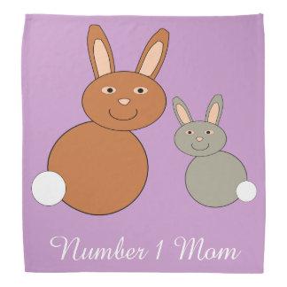 Mothers Day Bunnies Personalized Bandana
