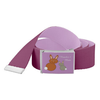 Mothers Day Bunnies Personalized Belt