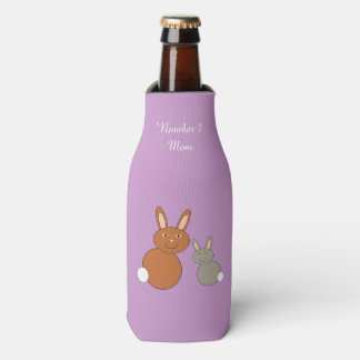 Mothers Day Bunnies Personalized Bottle Cooler