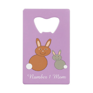 Mothers Day Bunnies Personalized Bottle Opener