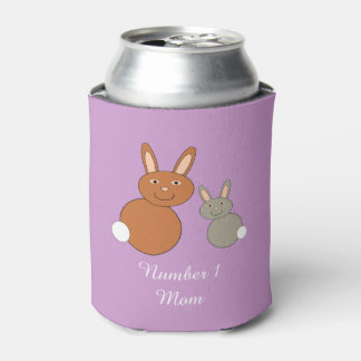 Mothers Day Bunnies Personalized Can Cooler