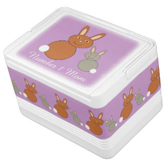 Mothers Day Bunnies Personalized Can Cooler Igloo Cool Box