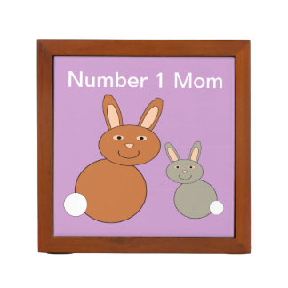 Mothers Day Bunnies Personalized Desk Tidy Desk Organiser