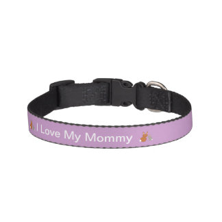 Mothers Day Bunnies Personalized Dog Collar