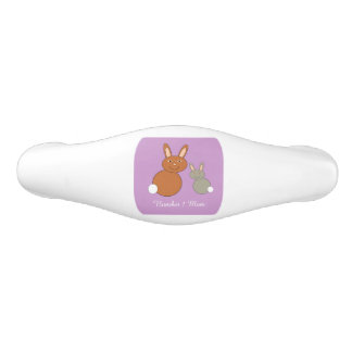 Mothers Day Bunnies Personalized Drawer Pull