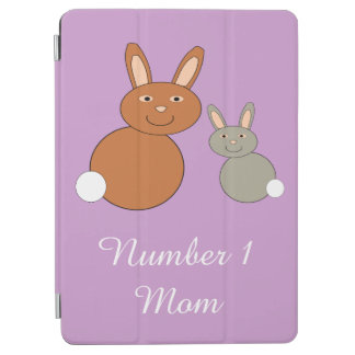 Mothers Day Bunnies Personalized iPad Cover