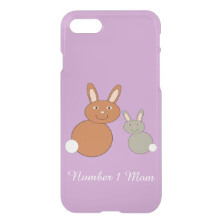 Mothers Day Bunnies Personalized iPhone Case