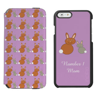 Mothers Day Bunnies Personalized iPhone Case Incipio Watson™ iPhone 6 Wallet Case