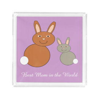 Mothers Day Bunnies Personalized Perfume Tray