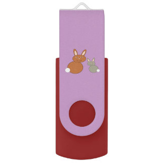 Mothers Day Bunnies Personalized USB Drive