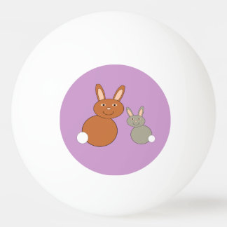 Mothers Day Bunnies Ping Pong Ball