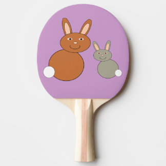 Mothers Day Bunnies Ping Pong Paddle
