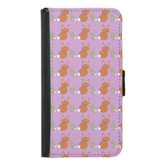 Mothers Day Bunnies Samsung Wallet Case