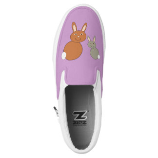 Mothers Day Bunnies Slip On Shoes
