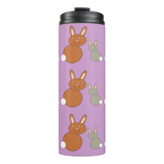Mothers Day Bunnies Thermal Tumbler
